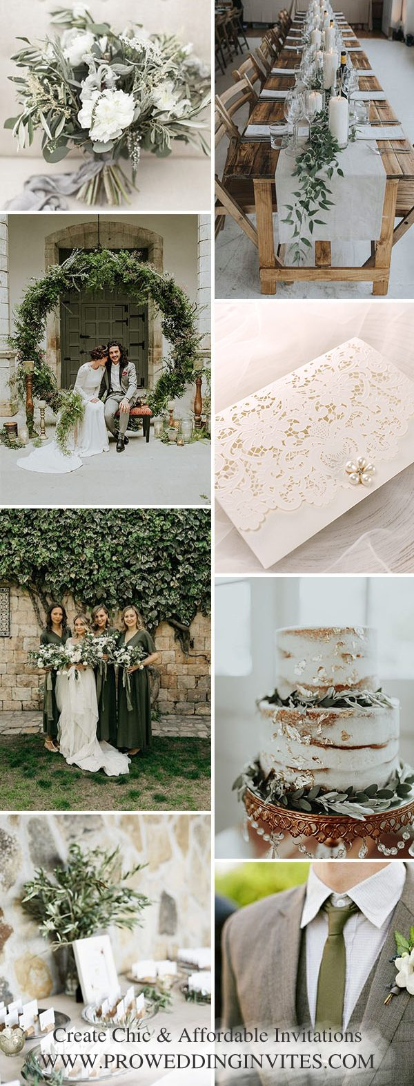 The Best Gold Wedding Colors Combos for 2021: Gold + Green