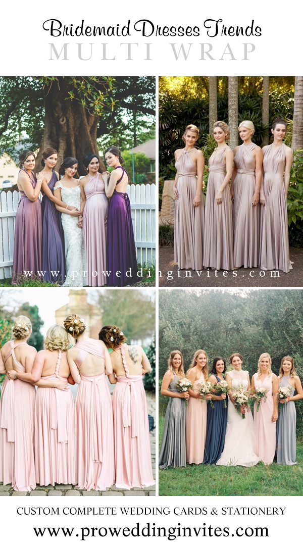 Multi Wrap Bridesmaid Dresses Your Girls Will Love to Wear - Pro Wedding Invites