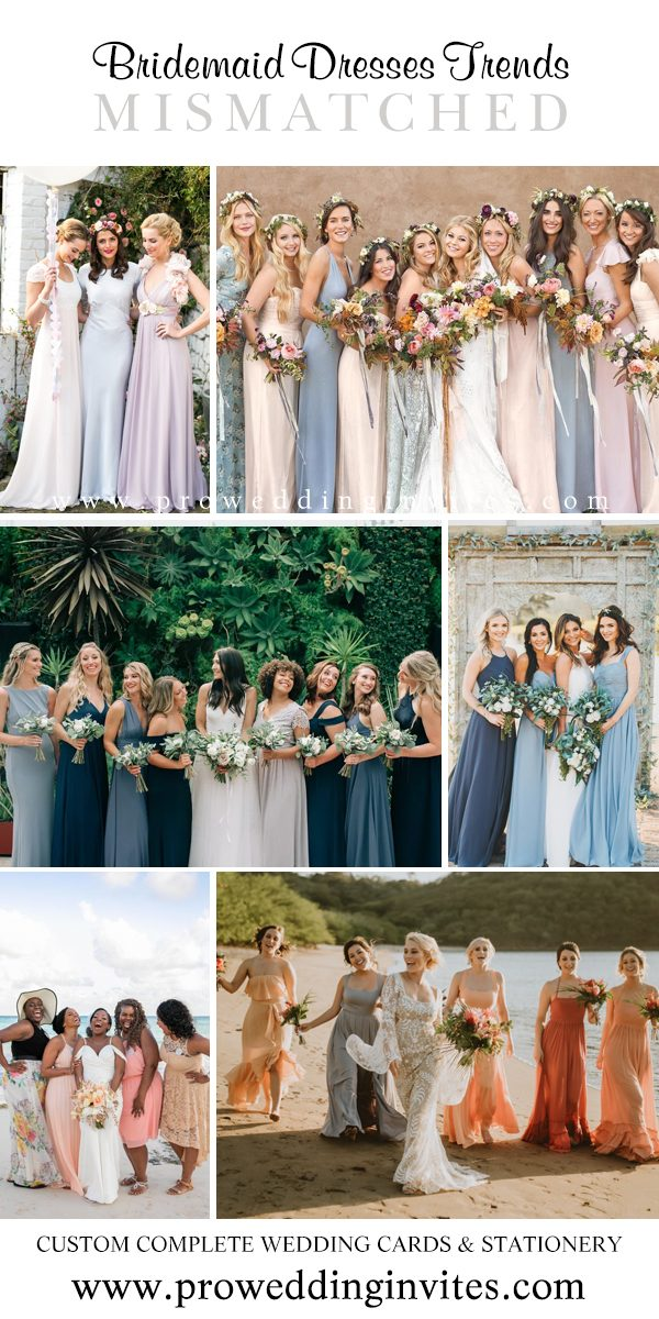 Mismatched Gowns Bridesmaid Dresses Your Girls Will Love to Wear - Pro Wedding Invites