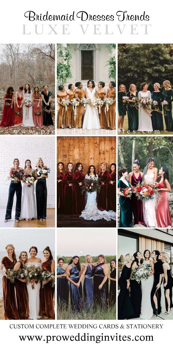 Luxe Velvet Fabrics Bridesmaid Dresses Your Girls Will Love to Wear - Pro Wedding Invites