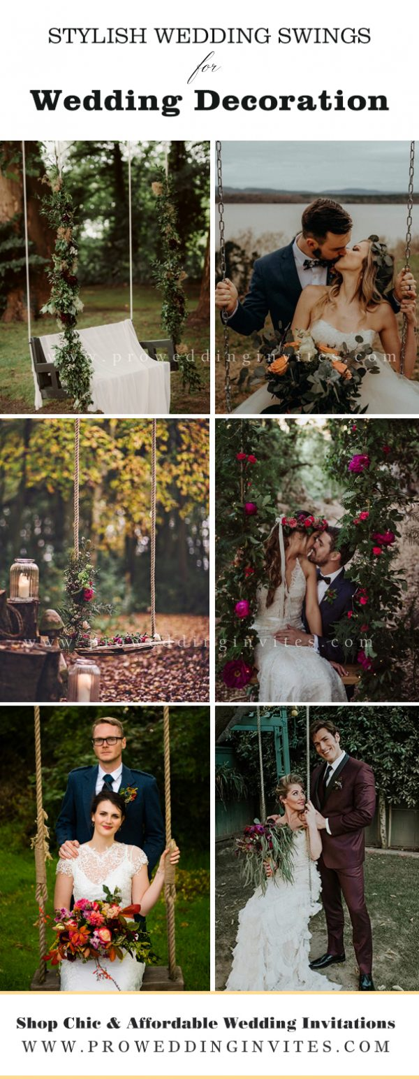 Dark and Moody Greenery and fuschia florals decor for wedding swing at destination wedding.