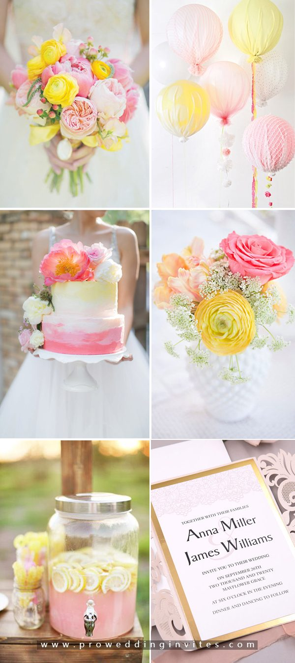 6+ Bright Hued Wedding Palette with Matching Wedding Invites