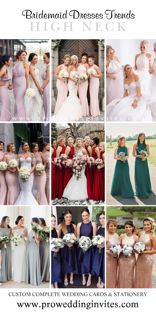 High Neck Tiered Bridesmaid Dresses Your Girls Will Love to Wear - Pro Wedding Invites