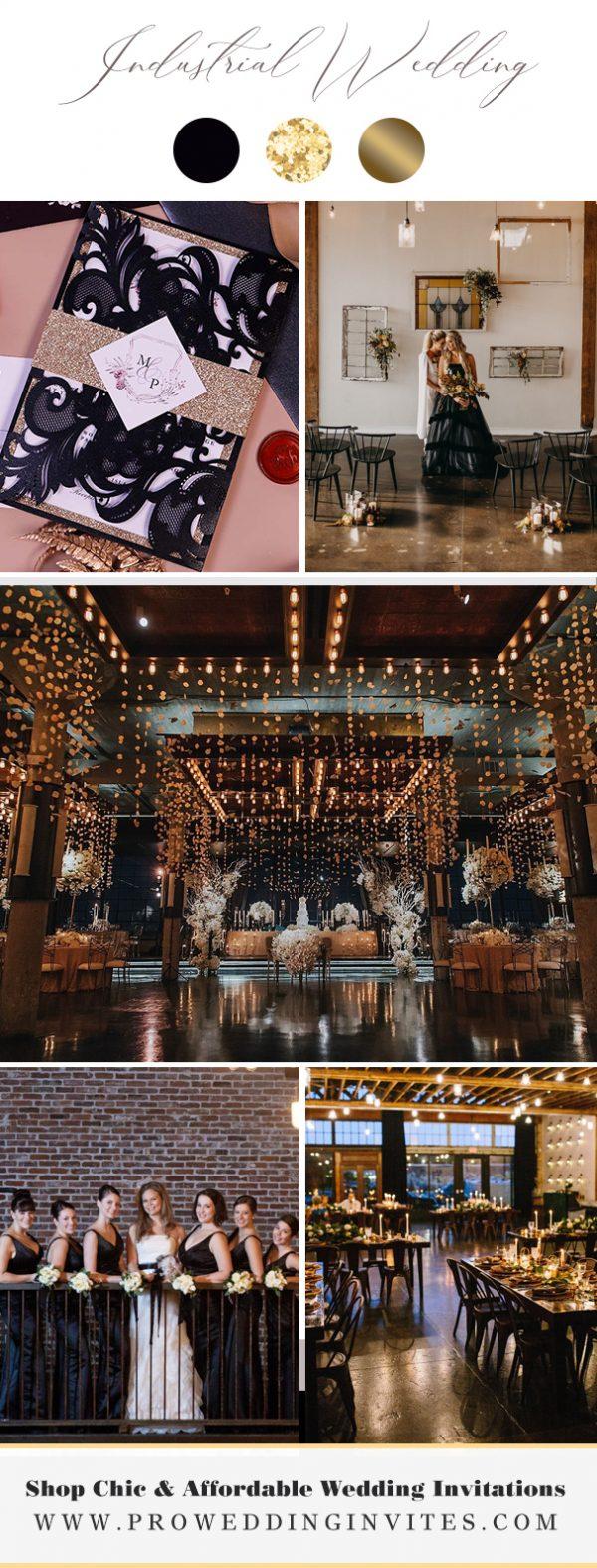 Metal & Copper Industrial Wedding Theme - Pro Wedding Invites