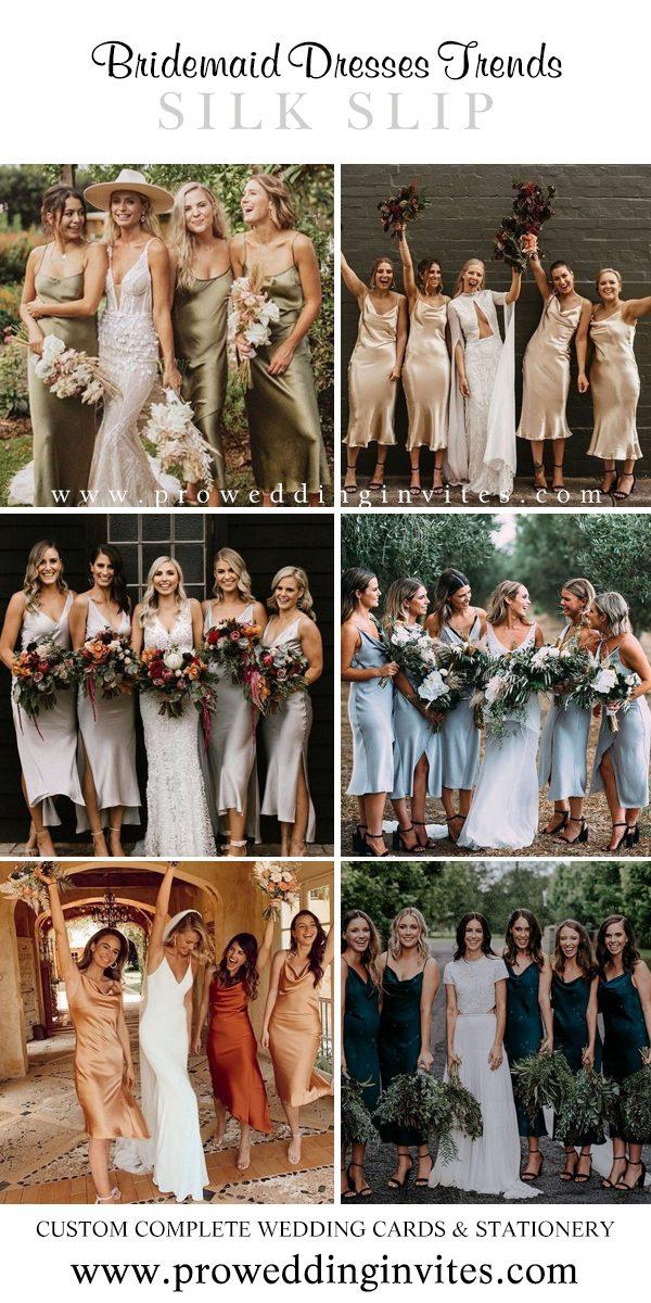 Silk Slip Midi Bridesmaid Dresses Your Girls Will Love to Wear - Pro Wedding Invites