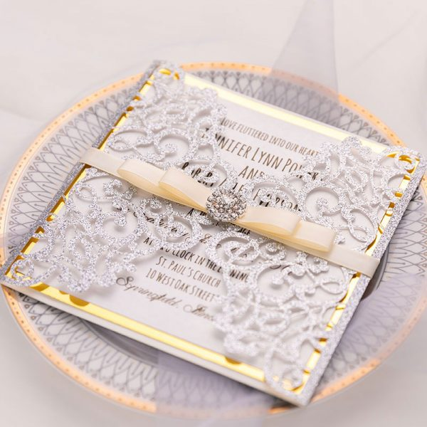 Wedding Invitations and Stationery with Glitter Features - Pro Wedding Invites