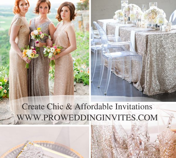 Get Inspired by 10 Gorgeous Glitters & Sequins Wedding Ideas
