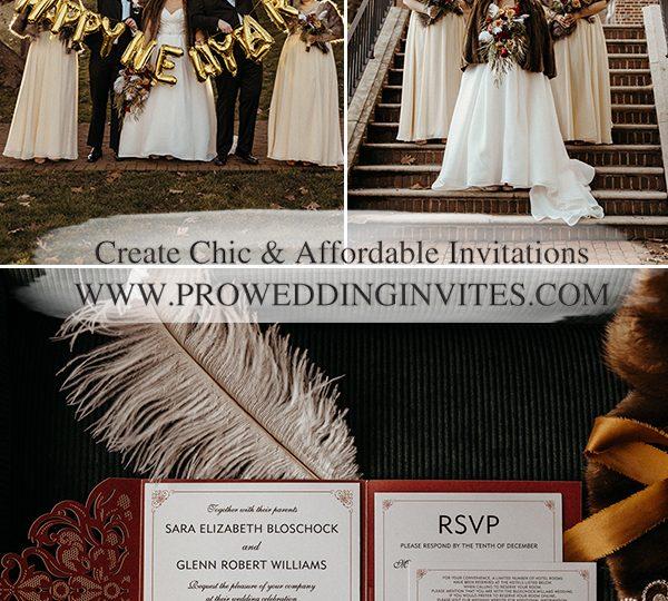 Winter New Year Eve Wedding – Modern Burgundy and Gold Real Wedding