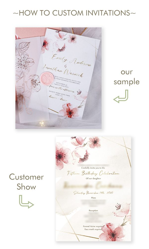5 Fun and Creative Ideas to Custom Wedding Invitations into Quinceañera Invitations