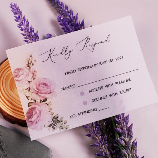 Would like a one-piece card to hold all the keywords for your wedding? As a signature of Pro Wedding Invites, we make a great effort. The invitation will be more elegant and fancy, especially to be calligraphed in white ink and applied serif font.