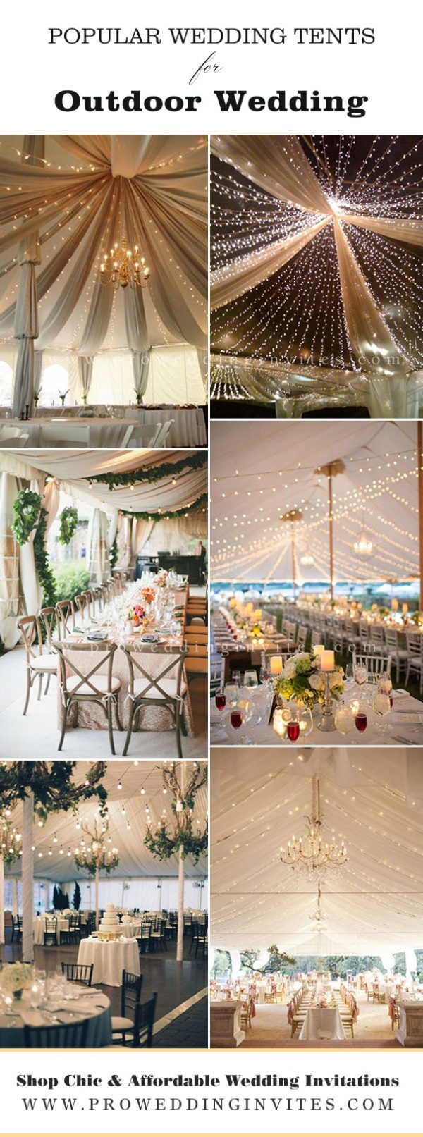 Draped fabric ceiling with romantic lights