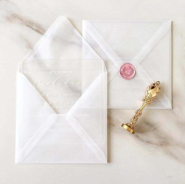 Unique see-through vellum Envelope