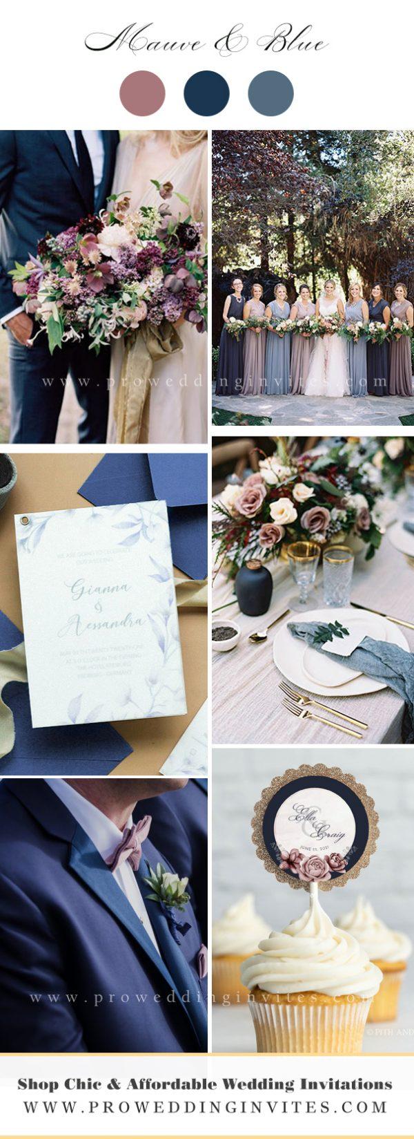Mauve & Navy rustic wedding ideasn Wedding Ideas Wedding Wedding Color Ideas with Matching Invitations