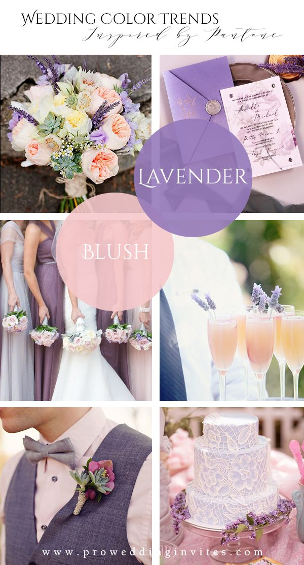 Lavender & Blush Spring Wedding Colors Inspired by Pantone