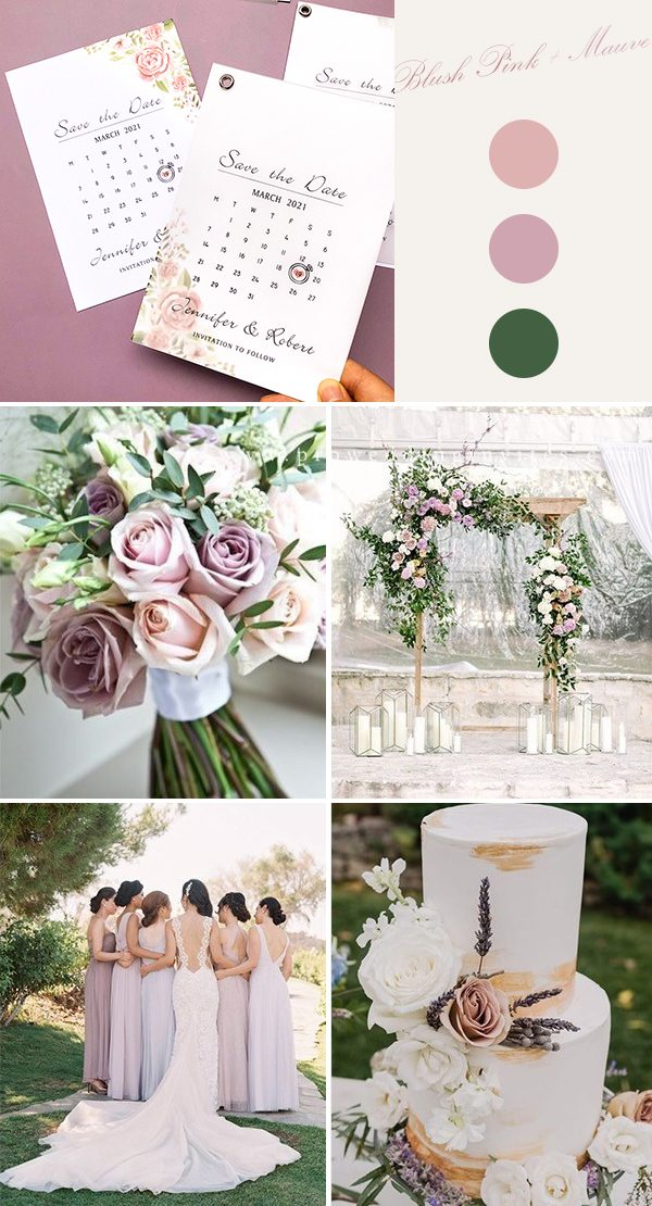 Flowers in delicate shades of blush pink grace this wedding invitation suite and its vellum top layer adds a romantic feeling to this invite.