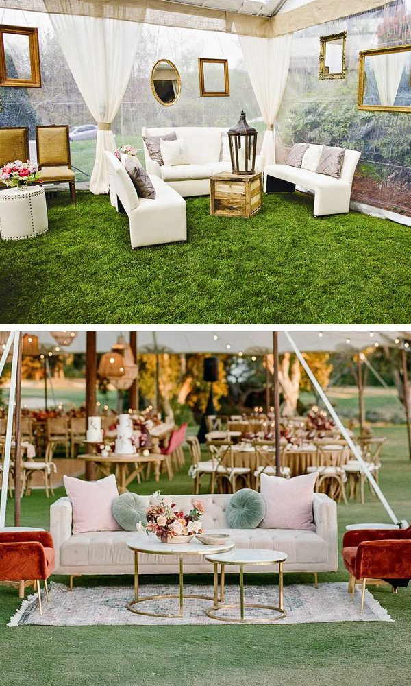 Lounging area for wedding reception