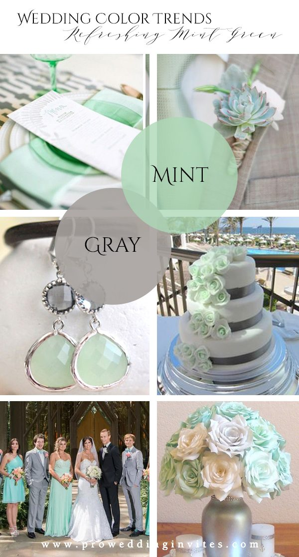 Refreshing Mint Green Gray Wedding Color Ideas to Steal