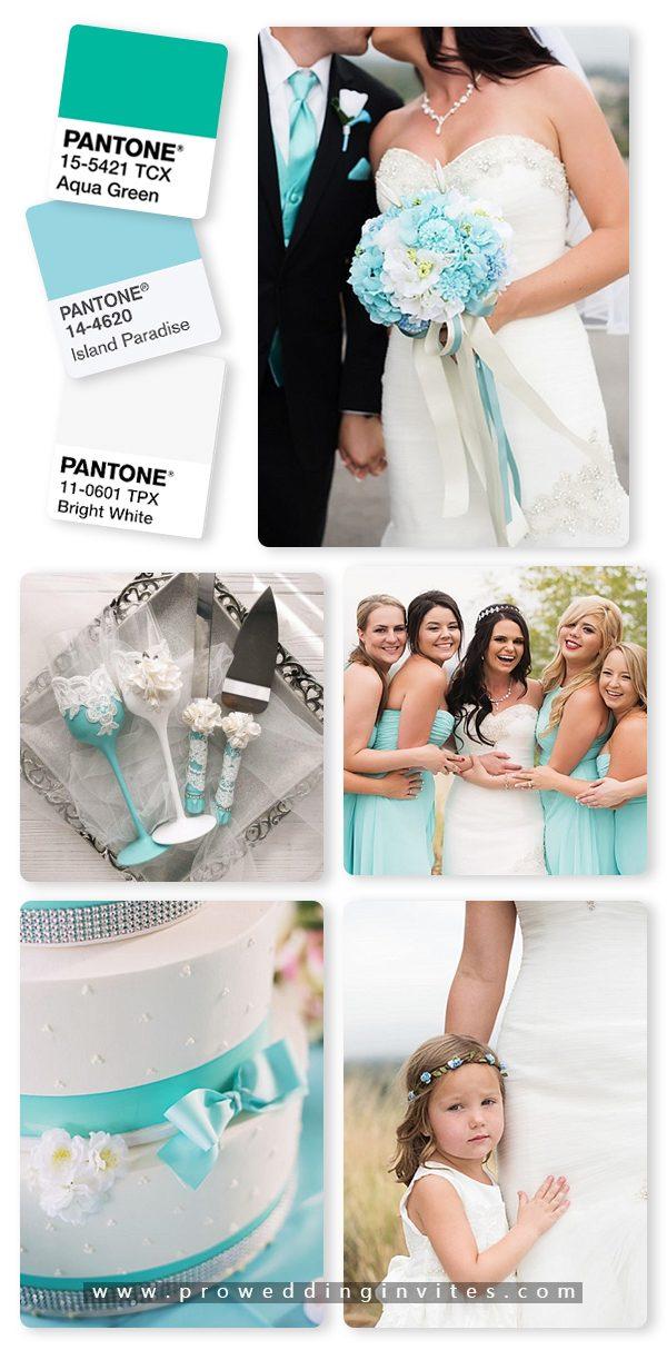 Island Paradise/Aqua and White Wedding Color Ideas
