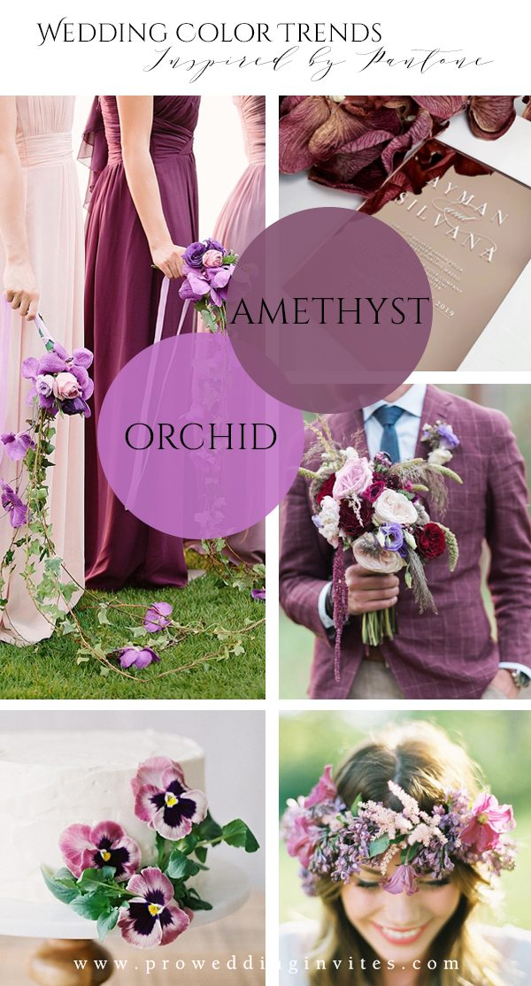 Amethyst Orchid Spring Wedding Colors Inspired by Pantone