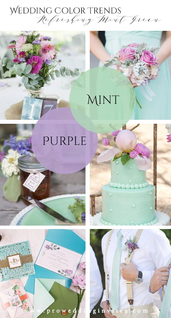 Refreshing Mint Green Purple Wedding Color Ideas to Steal