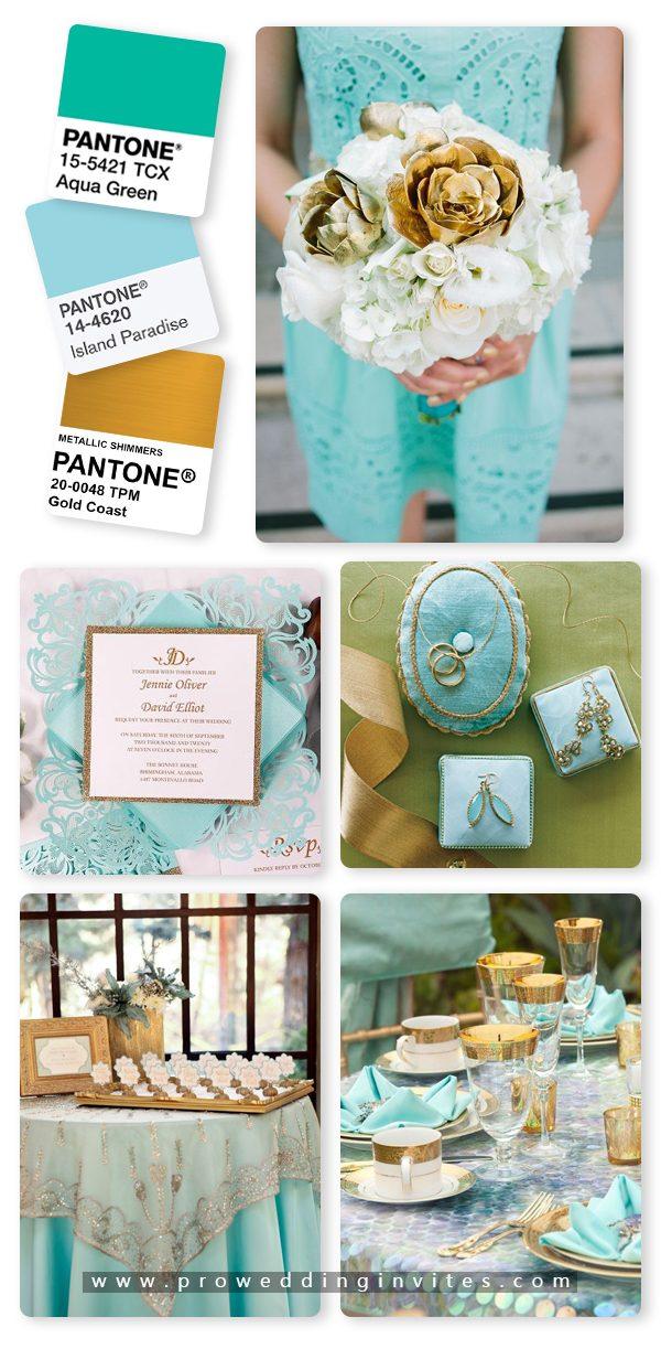Island Paradise/Aqua and Gold Wedding Color Ideas