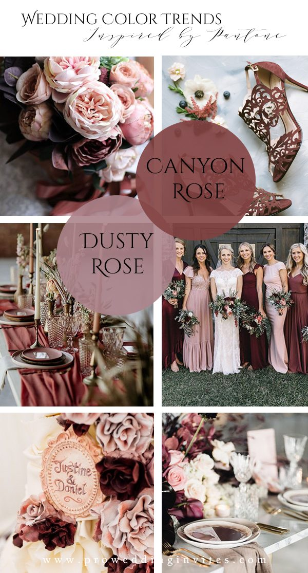 Canyon Rose & Dusty Rose Spring Wedding Colors Inspired by Pantone