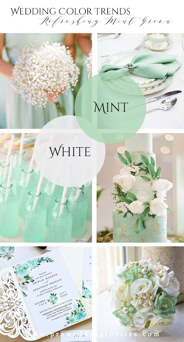 Refreshing Mint Green White Wedding Color Ideas to Steal