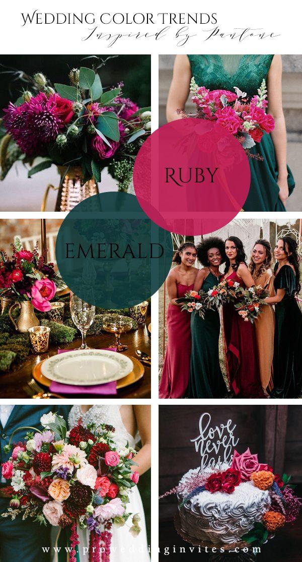 Vibrant Jewel Tones Spring Wedding Colors Inspired by Pantone