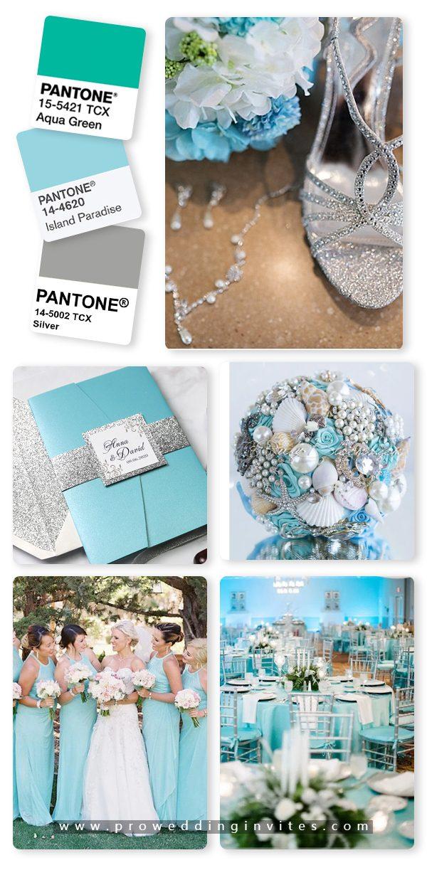 Island Paradise/Aqua and Silver Wedding Color Ideas