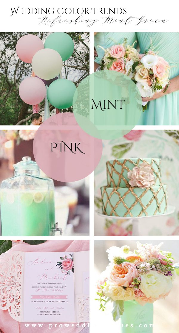 Refreshing Mint Green Pink Wedding Color Ideas to Steal