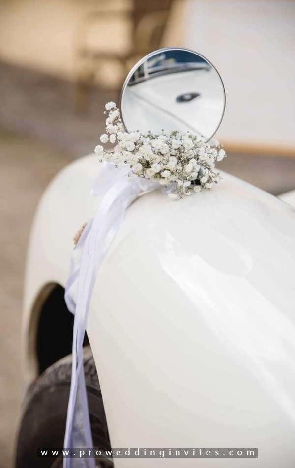 Floral Bows -30+ Creative Ideas to Decorate Your Wedding Car
