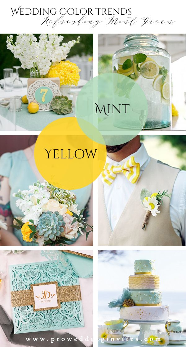 Refreshing Mint Green Yellow Wedding Color Ideas to Steal