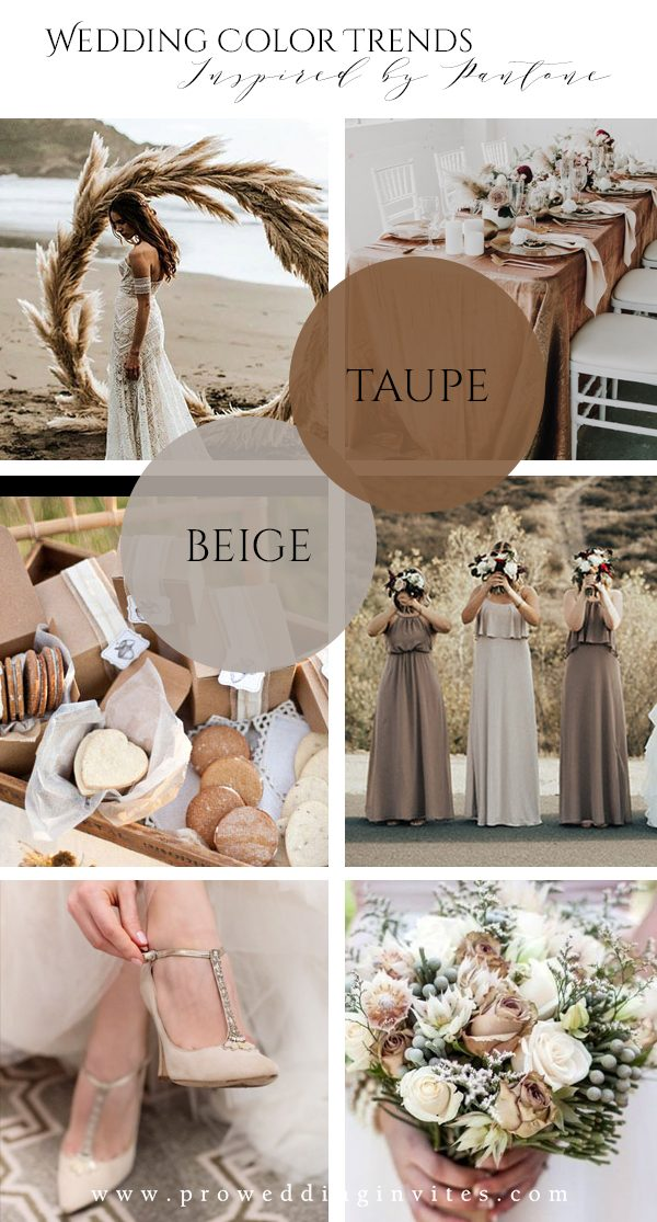 Neutral Spring Wedding Colors Inspired by Pantone