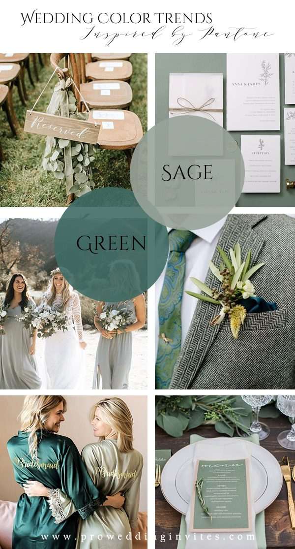Sage Green Spring Wedding Colors Inspired by Pantone