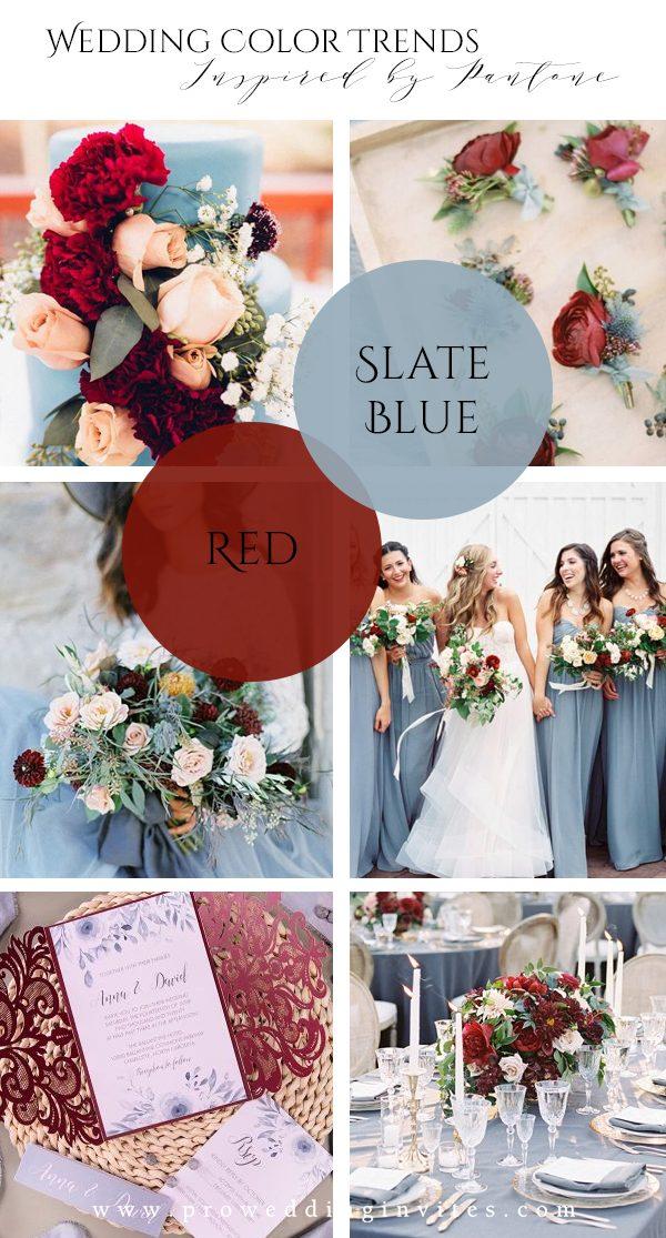 Slate Blue Spring Wedding Colors Inspired by Pantone