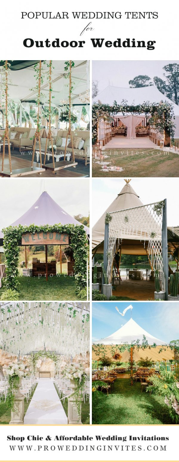 Decorate wedding tent's entryway
