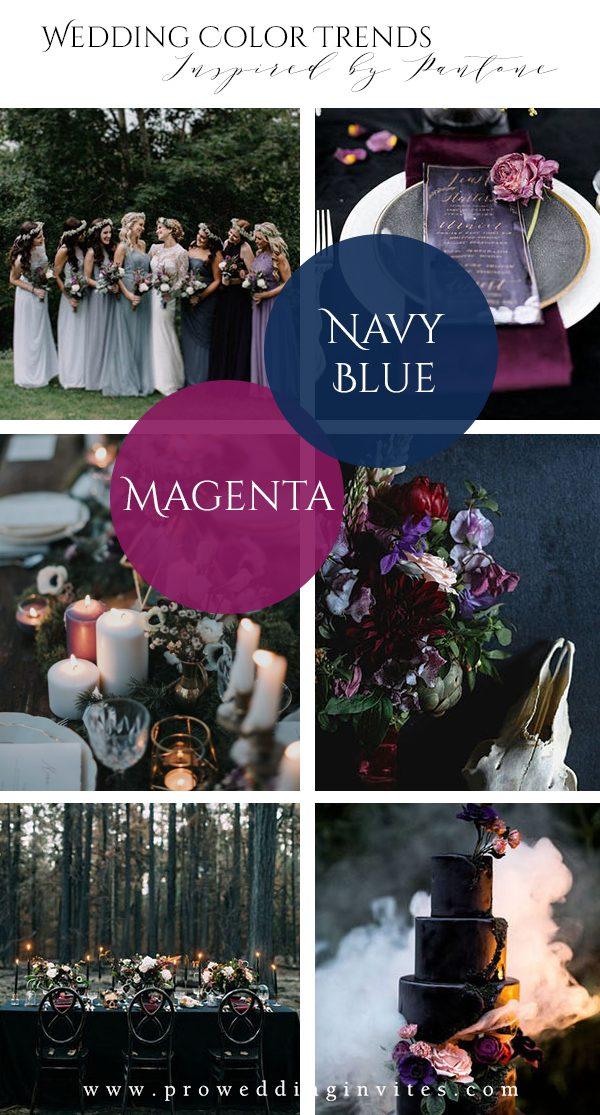Dark & Moody Spring Wedding Colors Inspired by Pantone