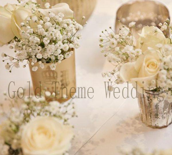 Year 2021 to Achieve a Stylish Gold Theme Wedding