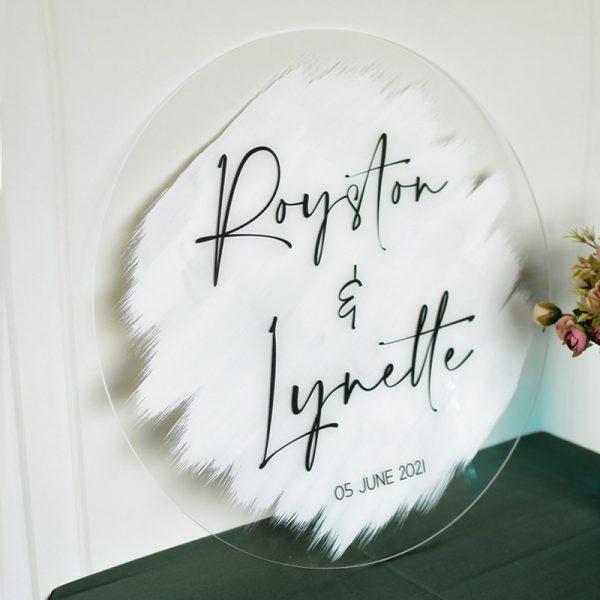 Stylish Brush Stroke Wedding Welcome Signs