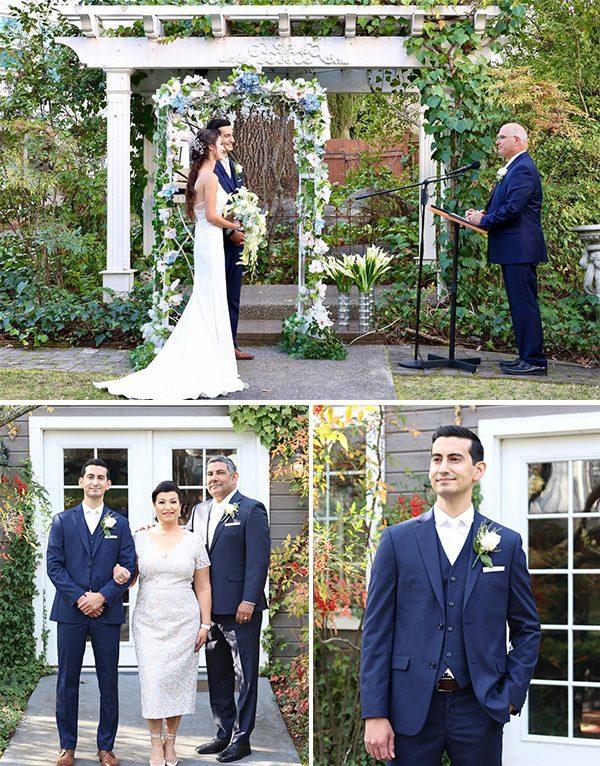 "Say "" WE DO "" under the Floral Door Wedding Arch"
