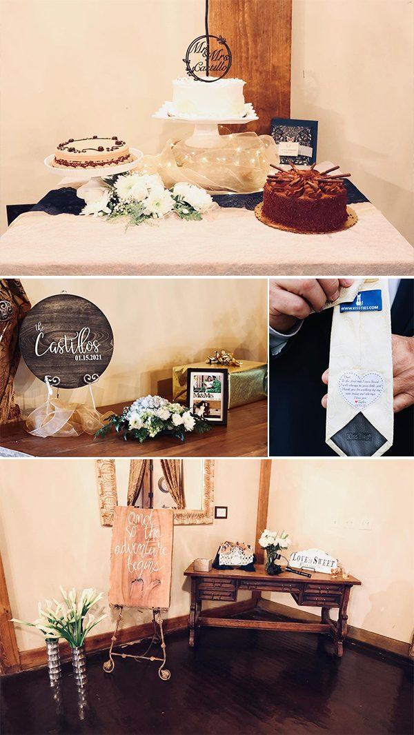 Get inside of their wooden wedding door