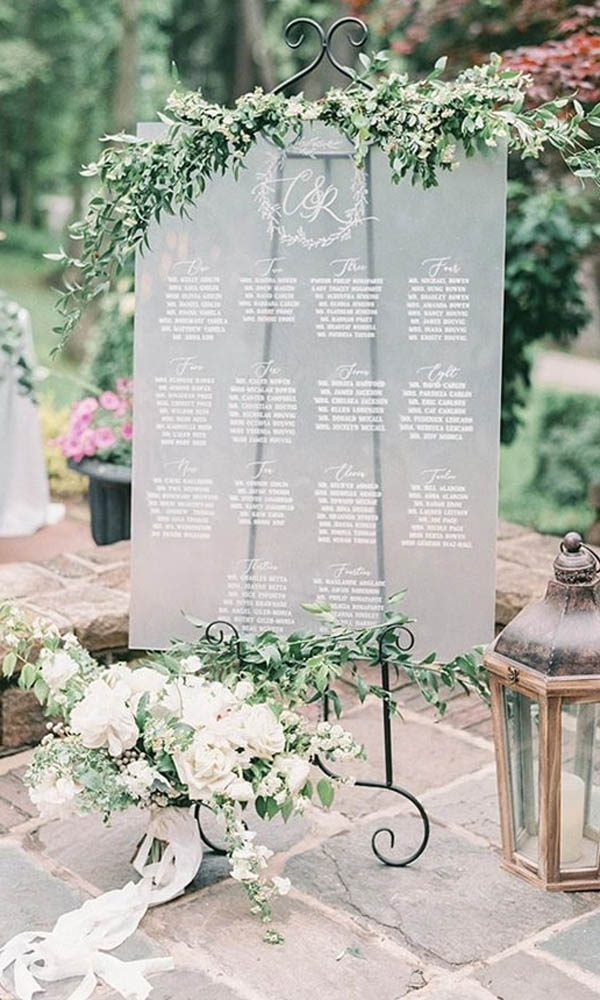 Unique Clear Acrylic Wedding Signs with Affordable Price