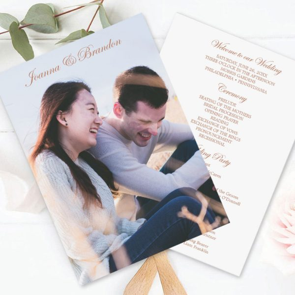 how to personalize wedding program card