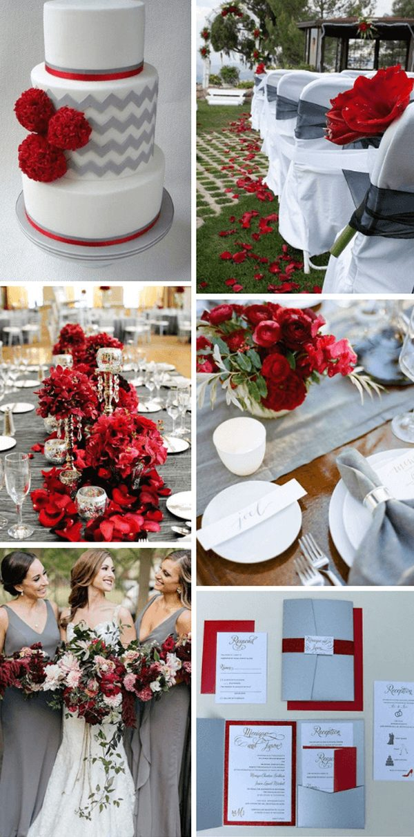 Top 5 Red Spring Wedding Color Palettes for 2022