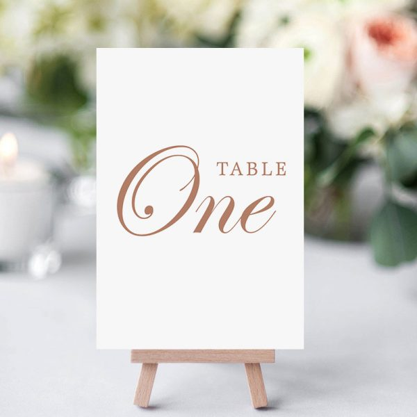 how to personalize wedding table card