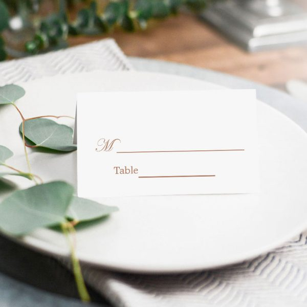 how to personalize wedding escort card