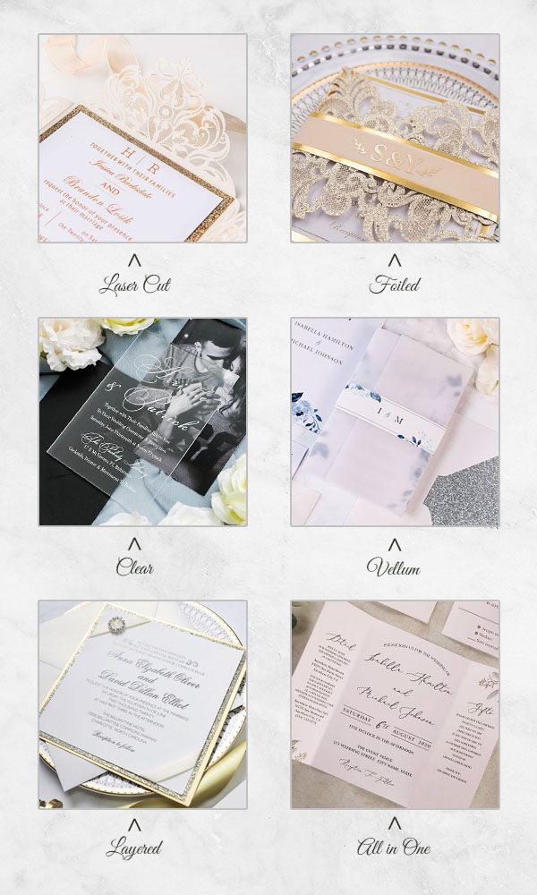 Handmade Wedding Invitations laser cut wedding invitations