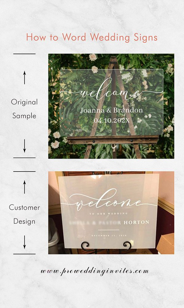 How to Word Wedding Signs to Fit Your Wedding Style?