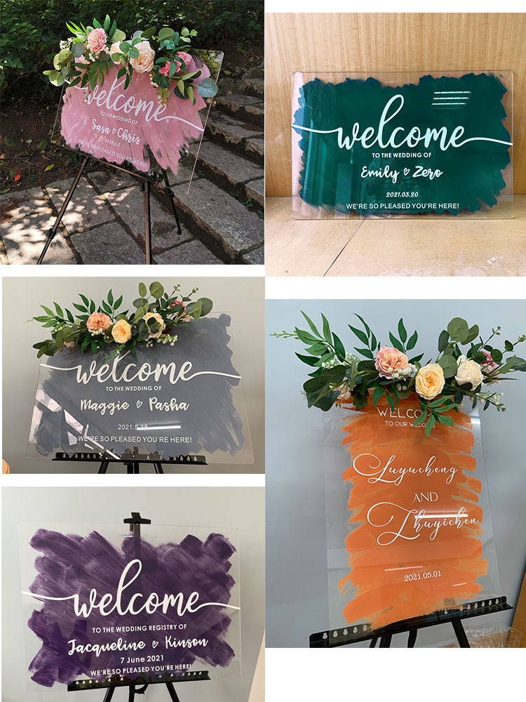watercolor color brush cards and gifts wedding table cards