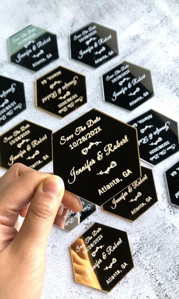 Chic DIY Ideas with Acrylic Wedding Invitation Cards